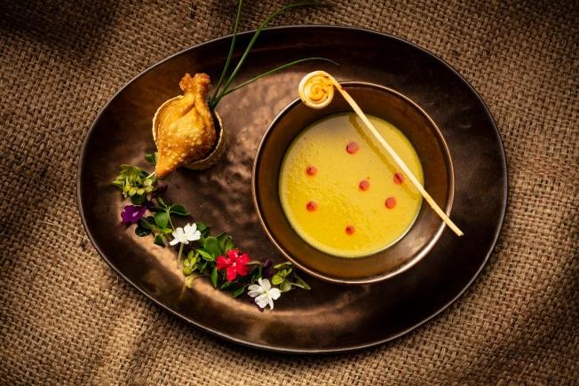 印式香草咖喱豆蓉湯