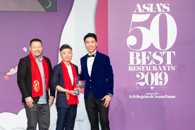 Richie Lin and Long Xiong, Mume, winner of The Best Restaurant in Taiwan