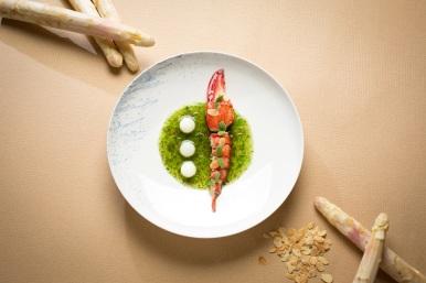 寶艾西餐廳-波士頓龍蝦佐白蘆筍海藻醬汁