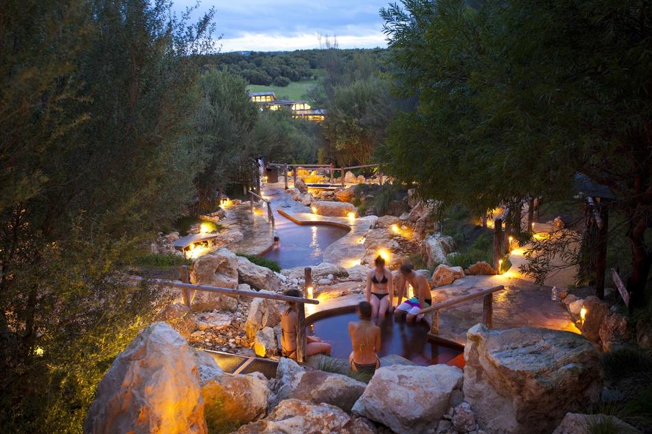 Hot Springs Bathing Gully twilight