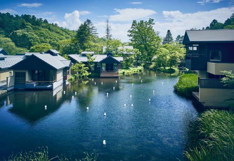 水波房型是虹夕諾雅輕井澤最具代表性的房型 (1)