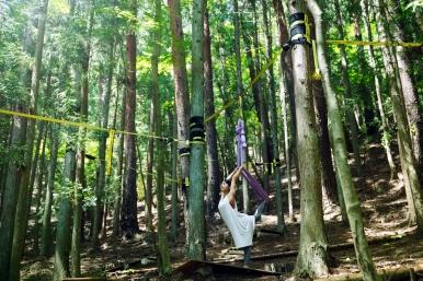 虹夕諾雅富士 從清晨到夜晚舉行各種山林體驗活動