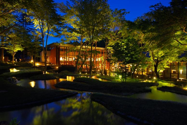 HOSHINOYA Karuizawa Tanada night_