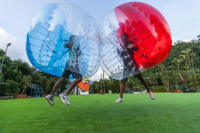 趣淘漫旅台南「泡泡假期」暑假推出泡泡足球活動 大人小孩玩瘋趣