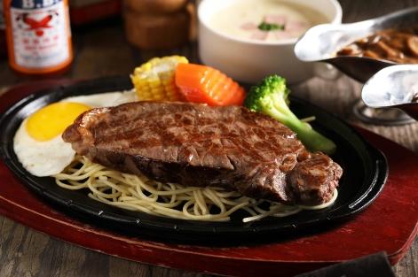 台北君悅-Cheers歡飲廊-台式鐵板套餐-碳烤美國紐約客牛排 (2)