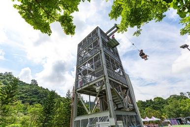 一座塔台可體驗四種極限項目