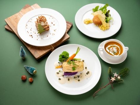 台北君悅-Cheers歡飲廊-聖誕套餐-主菜 香煎鸚鵡魚捲