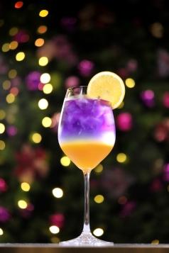 板橋凱撒大飯店 耶誕特調迎賓酒 晚霞氣泡飲