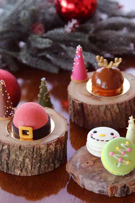 雲品溫泉酒店聖誕限定 麋鹿與聖誕老公公蛋糕、雪人及聖誕樹馬卡龍等多樣繽紛選擇