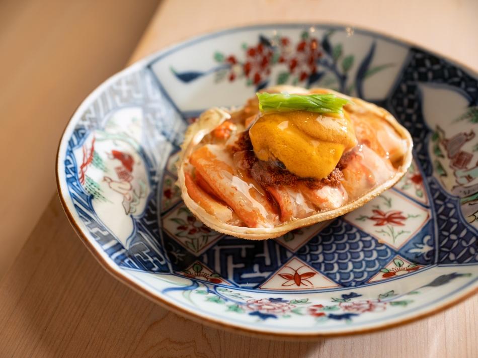 鮨 增田 Sushi Masuda Taipei_海膽香箱蟹 2