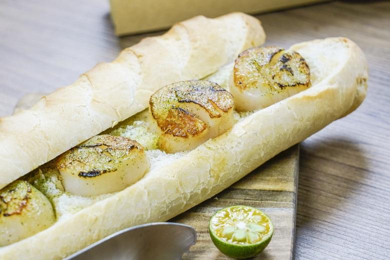 台北君悅-寶艾西餐廳 -古法麵團烤北海道大干貝(001)