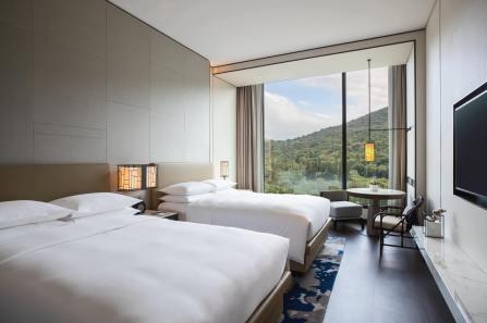 台北士林萬麗酒店 尊貴山景客房兩中床