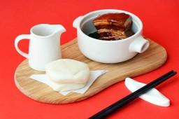 中式主餐-慢燉紅酒東坡肉刈包