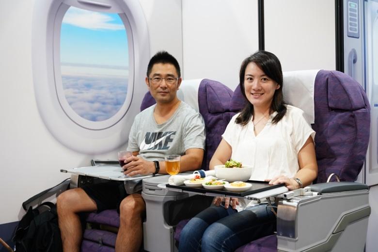 華膳空廚在旅展現場推出空中美食體驗